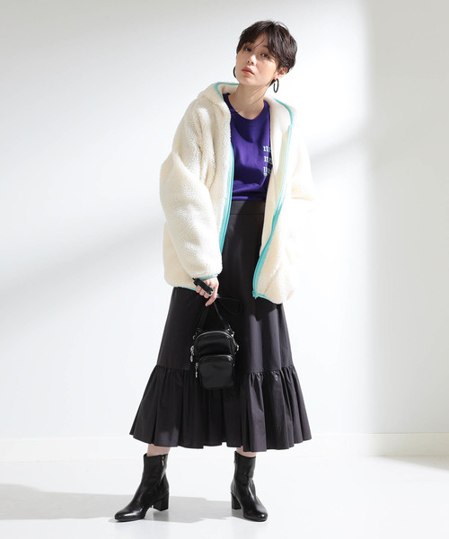 [BEAMS WOMEN] 【WEB限定】SUNNY SPORTS / ボア フード ジャケット