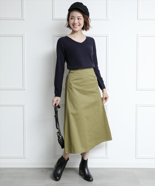 [clear] 台形フレアスカート
