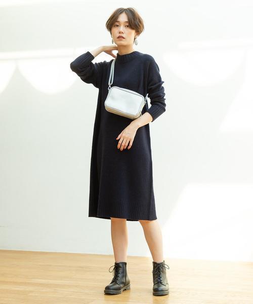 [coen] 【WEB限定カラー:シルバー】お財布ショルダーバッグ