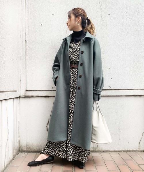 大阪 2月 服装 ワンピースコーデ3