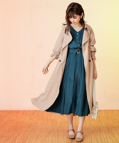 2[natural couture] バックギャザートレンチコート