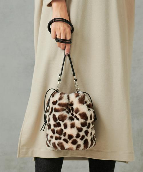 [CIAOPANIC TYPY] フェイクファー巾着バッグ