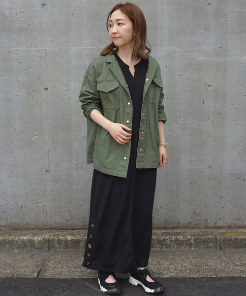 [STYLE AVENUE] CPOシャツジャケット【大きいサイズ対応】