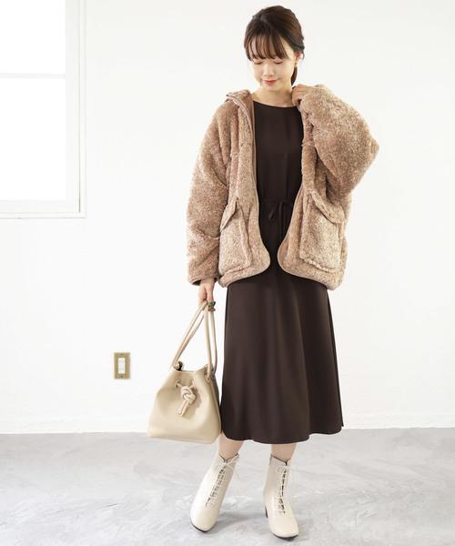 大阪 2月 服装 ワンピースコーデ7
