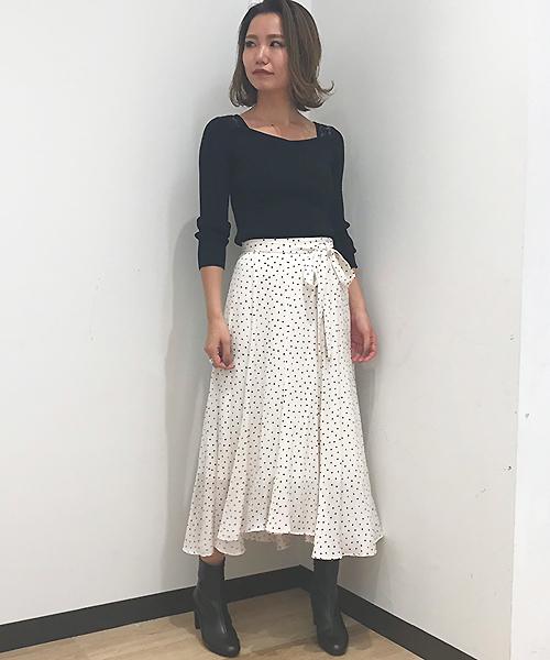 [31 Sons de mode] 《sweet10月号小嶋陽菜さん着用アイテム》ドットサテンフィッシュテールスカート