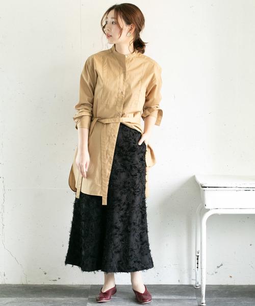 [URBAN RESEARCH ROSSO WOMEN] カットジャガードフリンジスカート