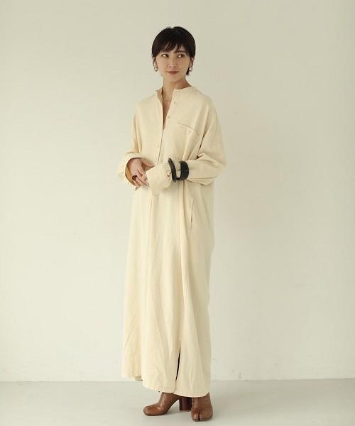 [TODAYFUL] コットンツイルシャツドレス