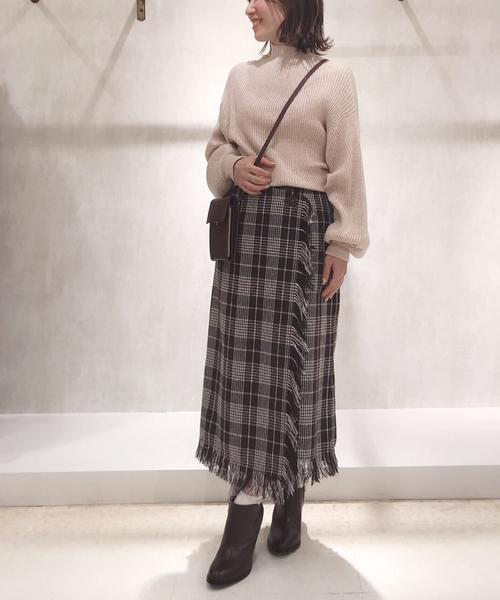 [BANNER BARRETT] チェックタイトスカート