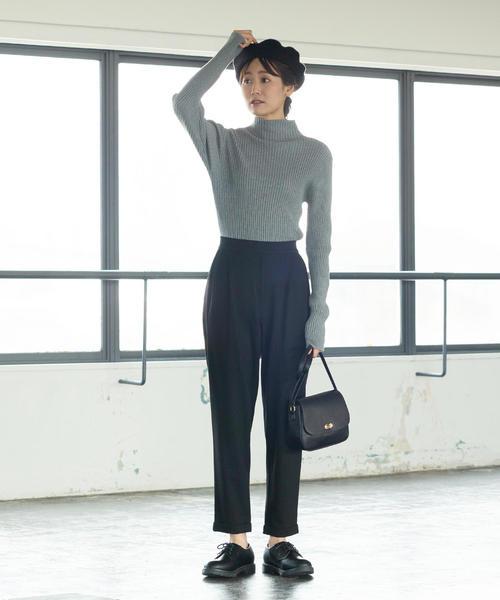 [coen] 【展開店舗限定】ポンチイージーテーパードパンツ