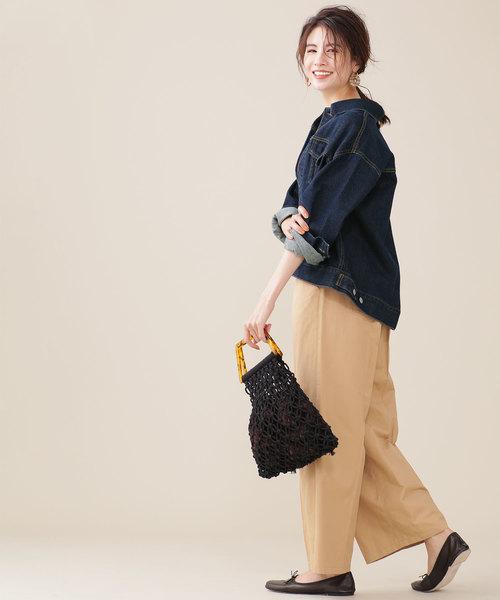 パンツを使ったシンプルな秋服2