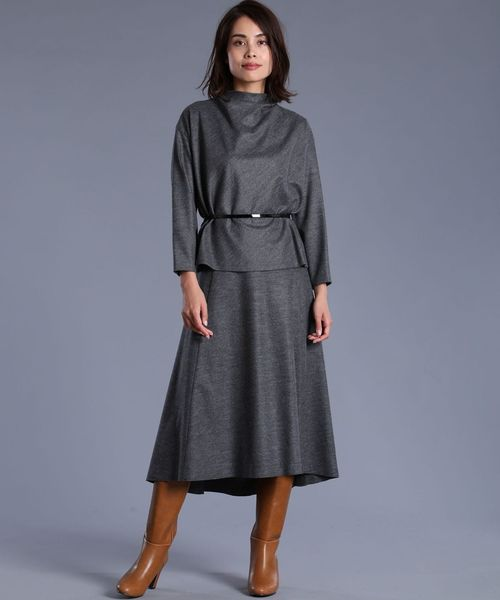 [SUPERIOR CLOSET] ウールフレアスカート