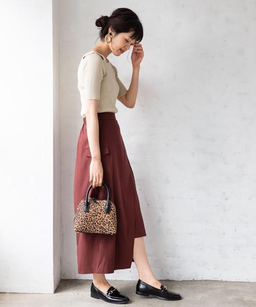 [TIENS ecoute] レイヤード風ポケット付きスカート