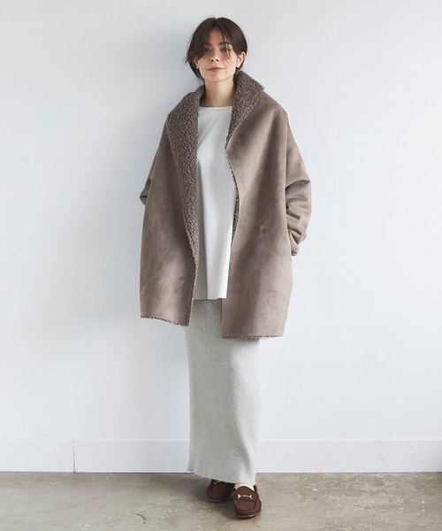 [GALLARDAGALANTE] ウールカシミヤリブニットスカート