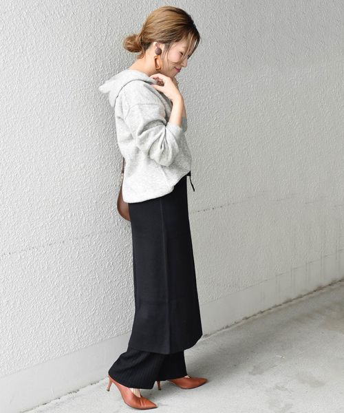 [SHIPS for women] Khaju:ニットスカート×パンツ◇
