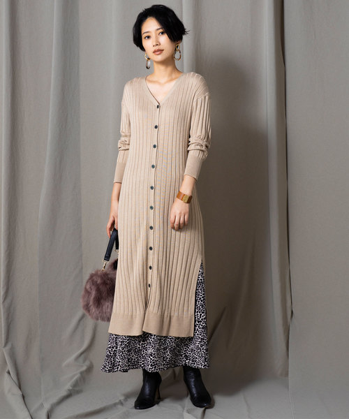 [tocco closet] 【yokoさんコラボ】レオパード柄マキシスカート