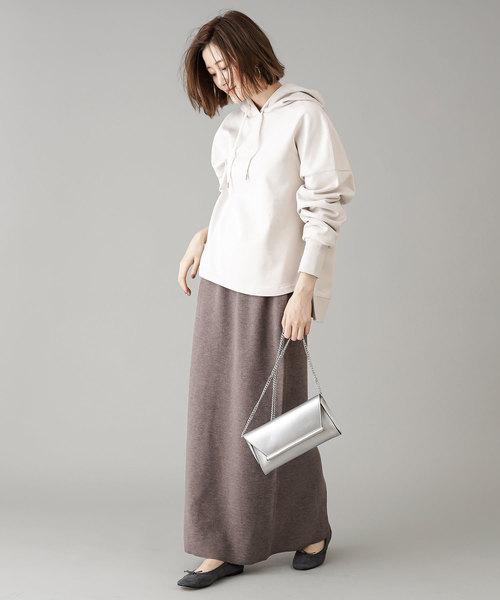 [RIVE DROITE] 【手洗い可】プレーティングニットスカート