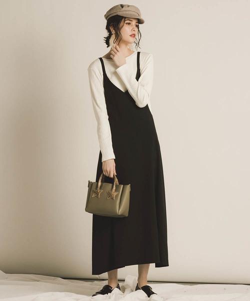 [MAYSON GREY] 【WEB別注】【socolla】サスぺ付き2WAYスカート