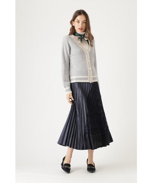 [JILLSTUART] ◆ユリアコンビプリーツスカート