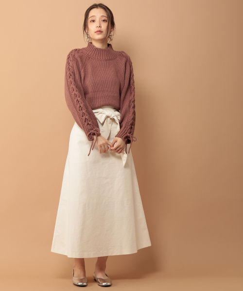 [mysty woman] 変形コーデュロイスカート 853571