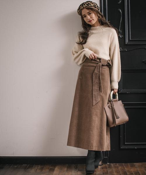 [mysty woman] 変形コーデュロイスカート 8535712