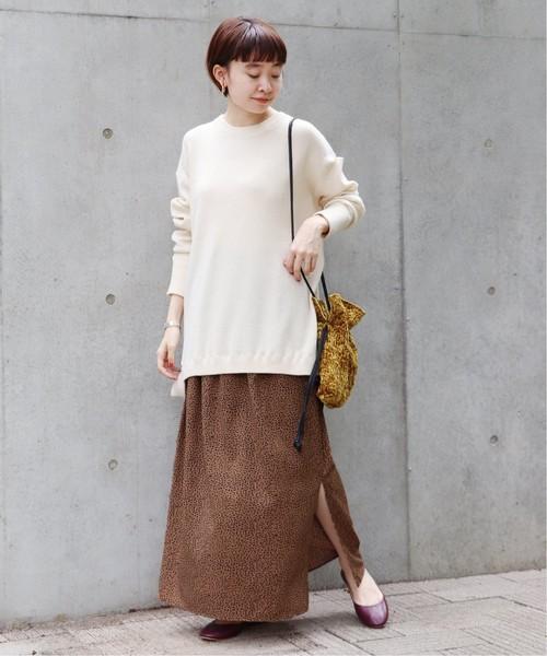 [JOURNAL STANDARD] 《WEB限定》JS+eレオパードプリントスカート