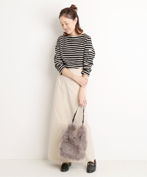 [IENA] モールスキン ロングタイトスカート◆