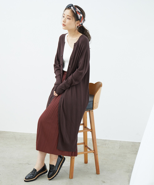 [ROPE' PICNIC] 【松岡茉優さん着用アイテム】【2WAY】ロングカーディガン