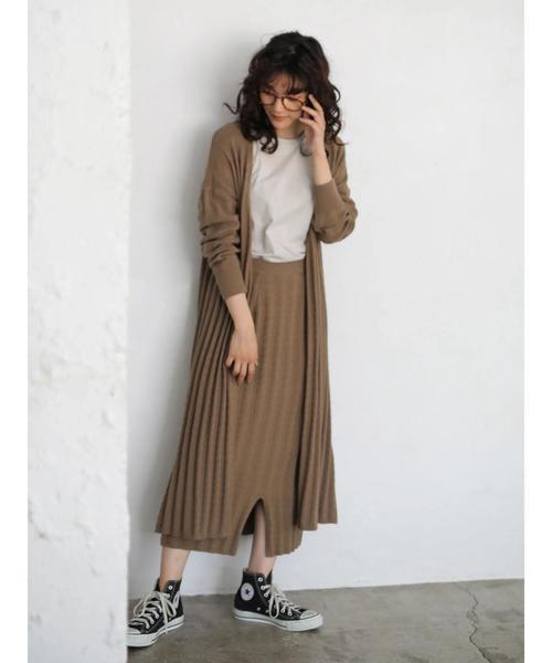 [AMERICAN HOLIC] ケーブルニットタイトスカート2