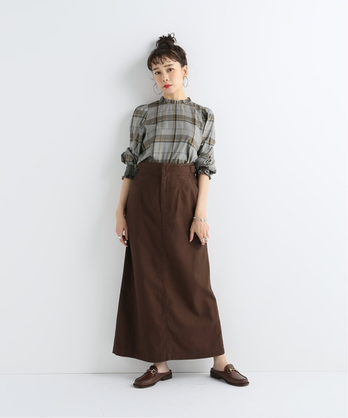 [JOURNAL STANDARD] スラブバックサテンタイトスカート