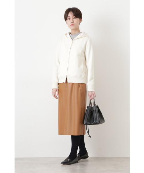 [HUMAN WOMAN] ◆シンラムキッドフェイクレザースカート