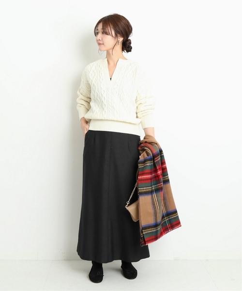 [IENA] ウール混マーメイドロングスカート◆