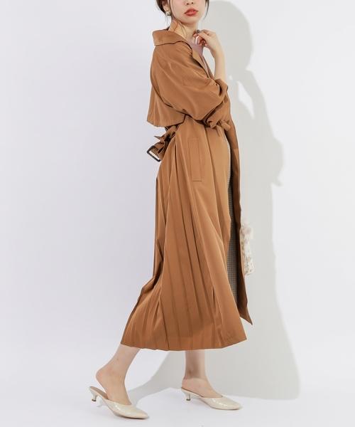 5[natural couture] バックプリーツテロンチコート