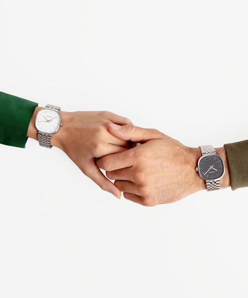 [CALVIN KLEIN WATCHES+JEWELRY] 【AUTUMN FAIR ノベルティ対象商品】[カルバンクライン] CALVIN KLEIN 腕時計 Squarely(スクエアリー) 3針 シルバー×シルバー