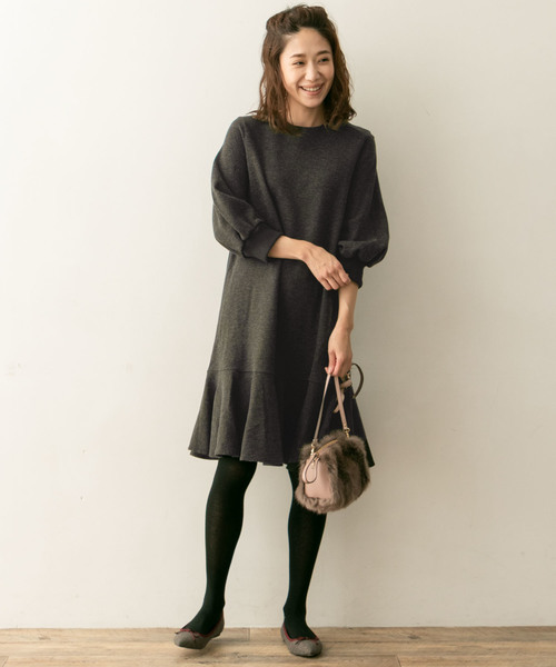 [URBAN RESEARCH ROSSO WOMEN] F by ROSSO 裾フレアワンピース