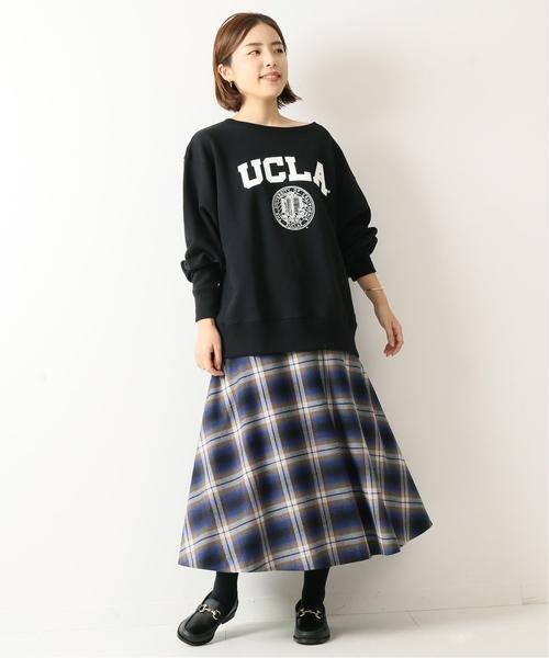 [Spick & Span] チェックソフトフレアースカート◆
