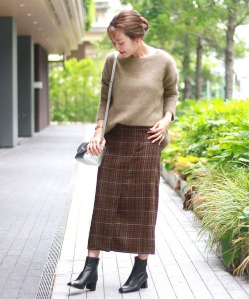 [JOURNAL STANDARD] T/Wチェック タイトスカート◆