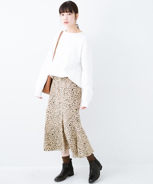 [haco!] スウェットやスニーカーを合わせても女っぽくいられるサテンマーメイドスカート by que made me