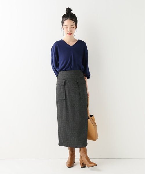 [JOINT WORKS] ヘリンボーンポンチスカート