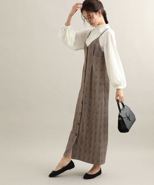 [ViS] 【WEB限定】ジャガードジャンパースカート