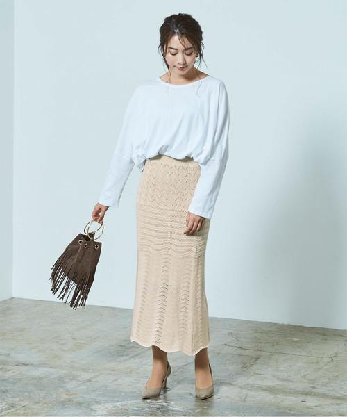 [ur's] 透かし編みニットスカート