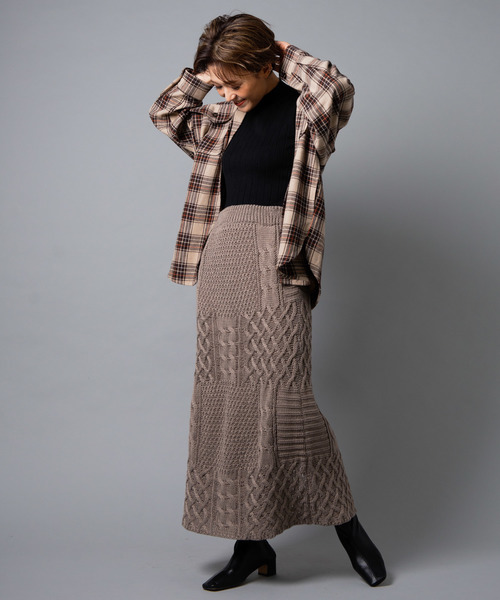 [YARD PLUS/AUNT MARIE'S] WEARISTA YUKI × AUNT MARIE'S チェックCPO BIGシャツ