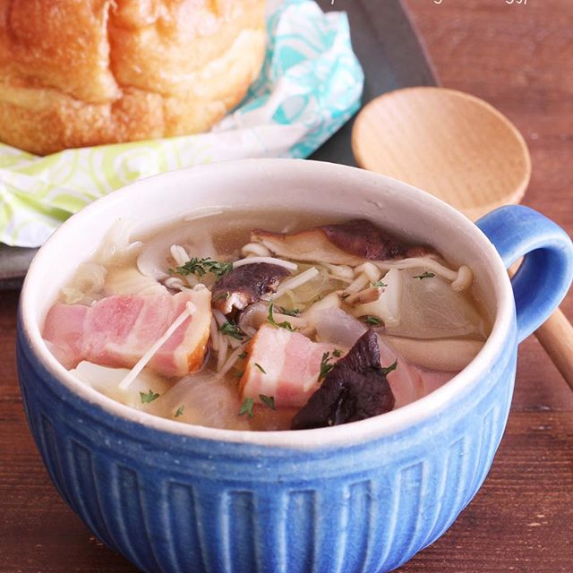 きのこ 人気レシピ スープ3