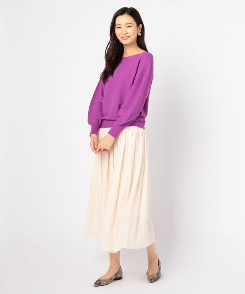 [NOLLEY'S] 割繊ロング丈ギャザースカート