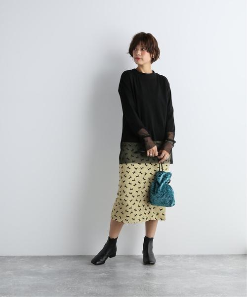 [JOURNAL STANDARD] キャットプリントスカート