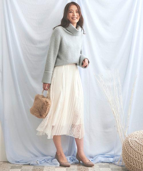 [Noela] レースMIXスカート