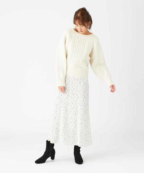 [EMMEL REFINES] SMFICP 小花マーメイドスカート