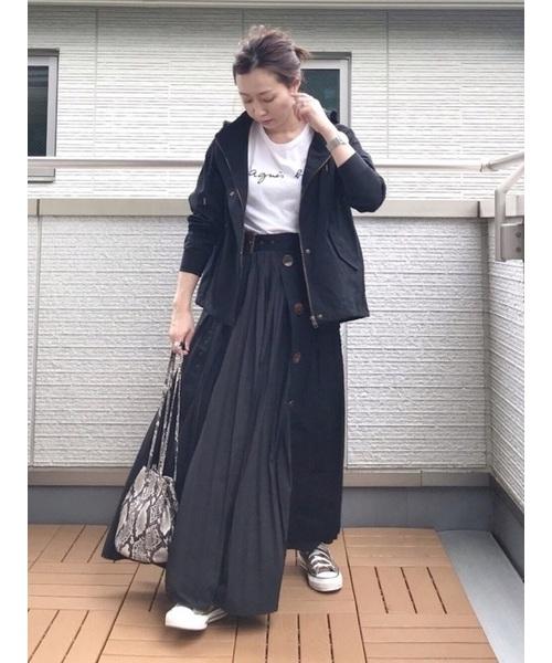 [SUGAR BISKET] プリーツトレンチスカート