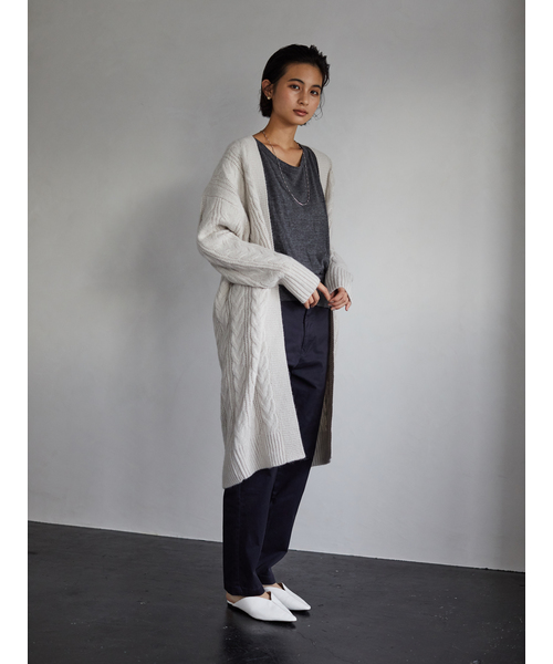[CRAFT STANDARD BOUTIQUE] 【2019AW】CABLE KNIT LONG CARDIGAN/ケーブルニットロングカーディガン〇