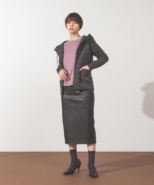 [WEARSTAND] エコレザータイトスカート