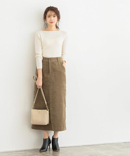 [Pierrot] コーデュロイタイトスカート